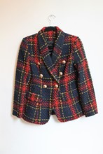 Balmain Inspired Plaid Blazer NEW balm-e106