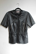 Ibana Short Sleeve Leather Jacket reslu-447