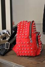 Red Studded Backpack reslu-558