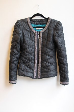 Paris Hilton Quilted Athleisure Jacket reslu-538