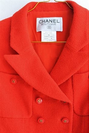 Chanel Tomato Red Jacket relu-34